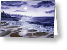 Moonlight Sonata Over Carmel Greeting Card