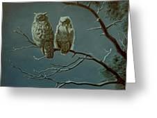 Moonlight Watchers Greeting Card by Paul Krapf