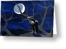 Ravenous Greeting Card by Edward Fuller