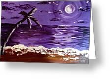 Moonlit Beach Greeting Card
