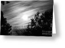 Moonlit Clouds Greeting Card