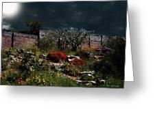 Moonlit Hillside In Africa Greeting Card