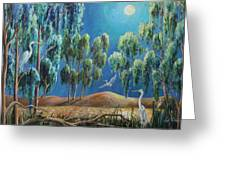 Moonlit Perch Greeting Card