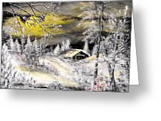 Moonlit Snow Greeting Card