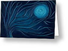 Moonlit Tree Greeting Card