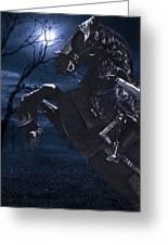 Moonlit Warrior Greeting Card