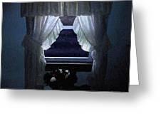 Moonlit Window Greeting Card
