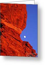 Moonrise Balanced Rock Arches National Park Utah Greeting Card
