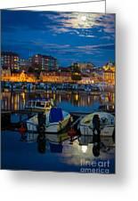 Moonrise In Karlskrona Greeting Card