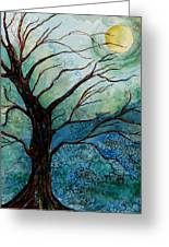 Moonrise In The Wild Night Greeting Card