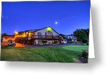 Moonrise On Golfcourse In Salem Ohio Greeting Card