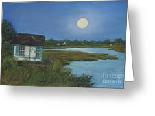 Moonrise Orient Point Greeting Card