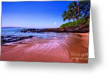 Moonrise Over Maui Greeting Card
