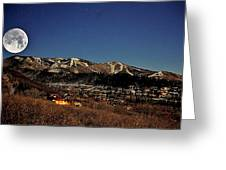 Moonrise Over Steamboat Greeting Card