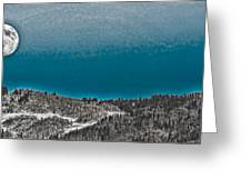 Moonrise Over The Mountain Greeting Card