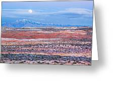 Moonrise Over Virgin Peak Greeting Card