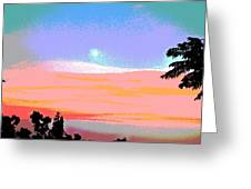 Moonrise Three Greeting Card