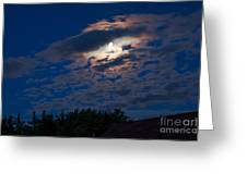 Moonscape Greeting Card by Robert Bales