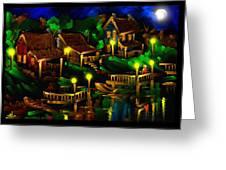 Moonshine Lake - Scratch Art Series - # 26 Greeting Card