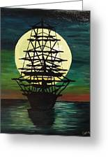 Moonstricken....lost In Thought Greeting Card
