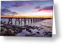 Moonta Bay Jetty Sunset Greeting Card