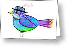 Moonworld Series - Birdy Bard Greeting Card