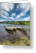 Moored Boats  Greeting Card by Adrian Evans