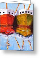 Moored Greeting Card