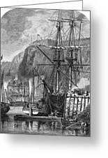 Moored Ships At Fort Regent,  St Greeting Card