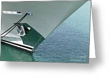 Moored Ships Bow With Retracted Anchor Abstract Greeting Card