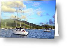 Moored To Relax Greeting Card