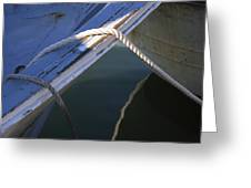 Mooring Ropes On A Fishing Boat Greeting Card