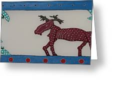 Moose Coming Home For Christmas Greeting Card