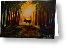 Moose Hideout Greeting Card