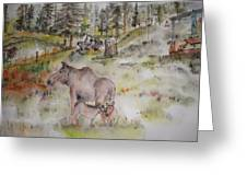 Moose Is Loose Album Greeting Card