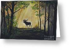 Moose Magnificent Greeting Card