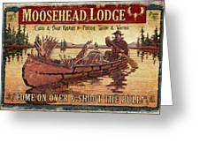 Moosehead Lodge Greeting Card by JQ Licensing