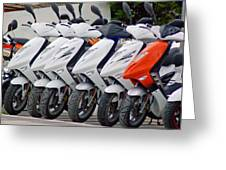 Moped City Greeting Card