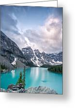 Moraine Cloud Burst Greeting Card by Jon Glaser