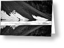 Moraine Lake Abstract - Black And White #2 Greeting Card