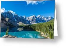 Moraine Lake At Banff National Park Greeting Card