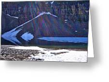 Moraine Lake Lens Flare Greeting Card