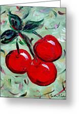 More Cherries Greeting Card