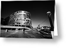more london riverside place with the scoop London England UK Greeting Card