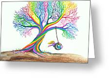 More Rainbow Tree Dreams Greeting Card by Nick Gustafson