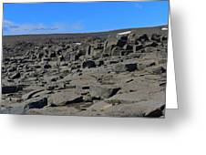 More Rock And Lava At Dettifoss Greeting Card