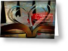 More Than Words Greeting Card