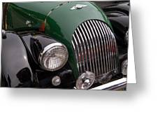 Morgan Plus 4 Grill And Hood Greeting Card