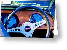 Morgan Steering Wheel Greeting Card