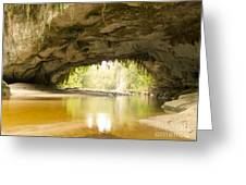 Moria Gate Arch In Opara Basin On South Island In Nz Greeting Card